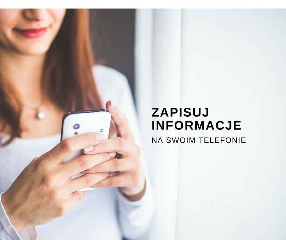 Zapisuj szybko informacje z wizytówki na swoim telefonie.